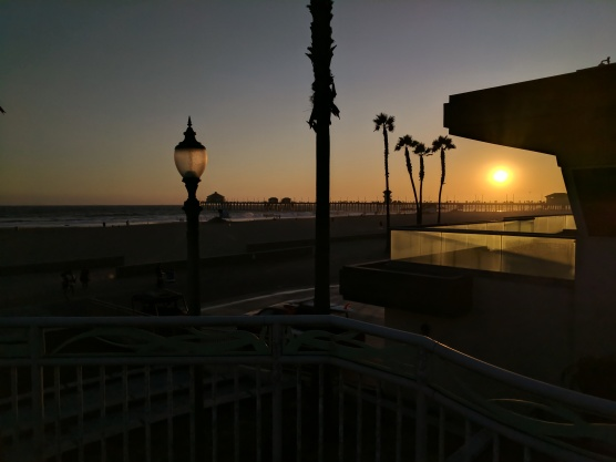 Sunset at Huntington Beach