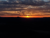 Sunset over the Appalachian Mountains